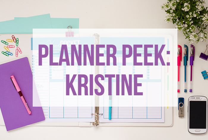Kristine's Planner Peek Tour