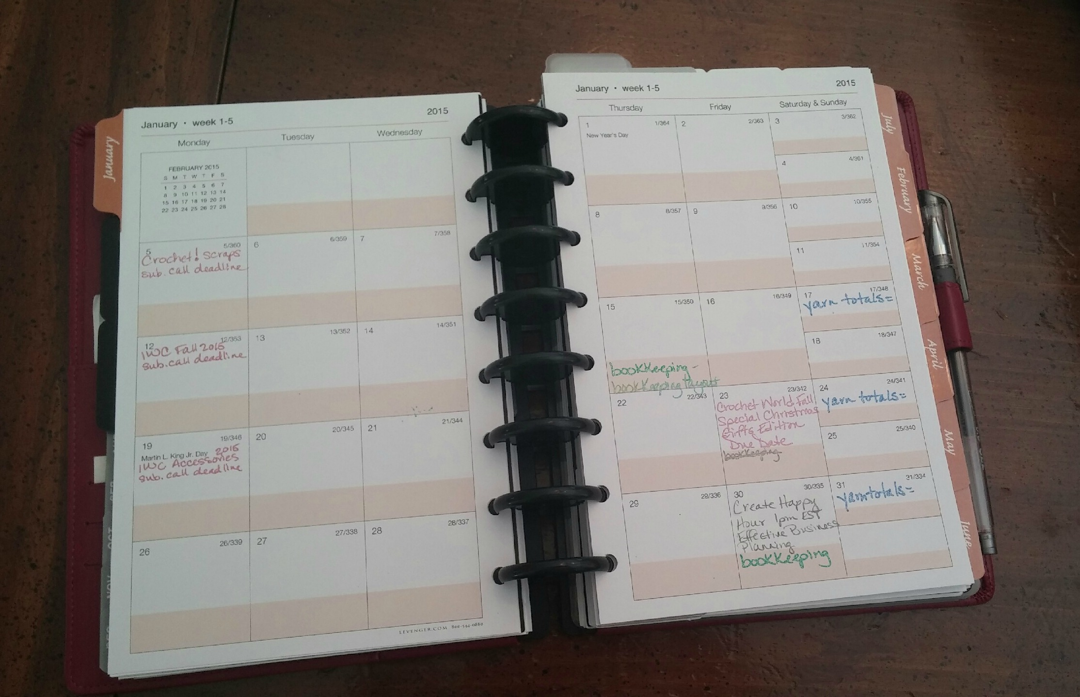 Weekly Overview Planner Page