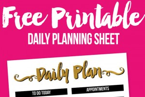 Free Printable Daily Planning Page