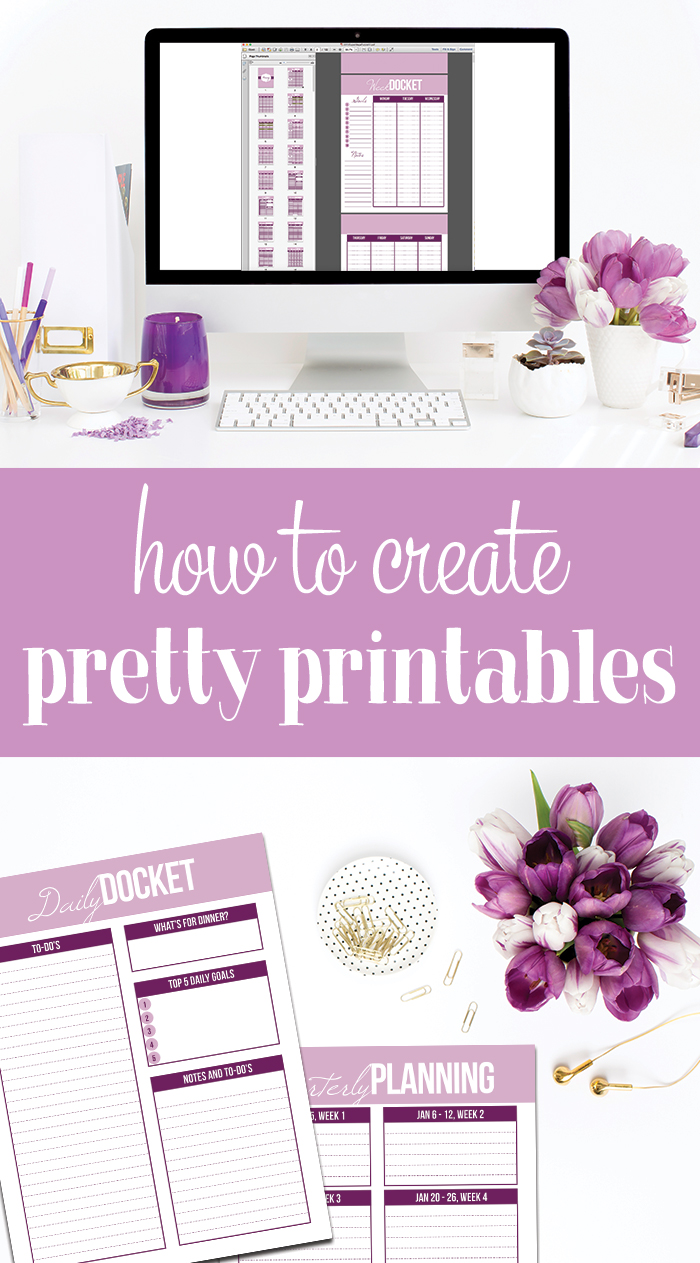 How to create your own printables i heart planners for Design my own planner