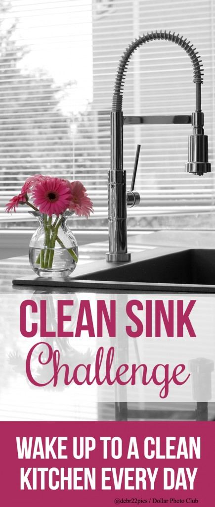 Join us for the clean sink challenge to help you wake up to a clean kitchen every single morning! Also includes a free printable to help keep you motivated