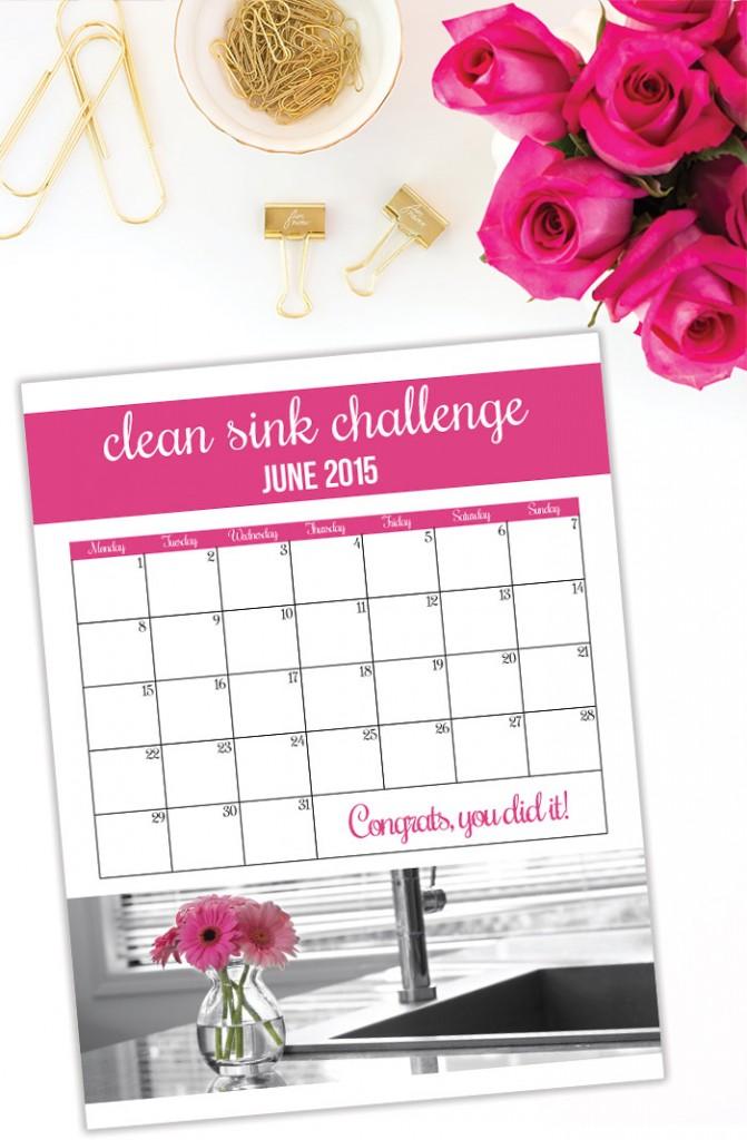 CleanSinkChallengePrintableGraphic