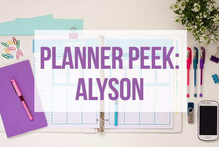 Planner Peek: Alyson
