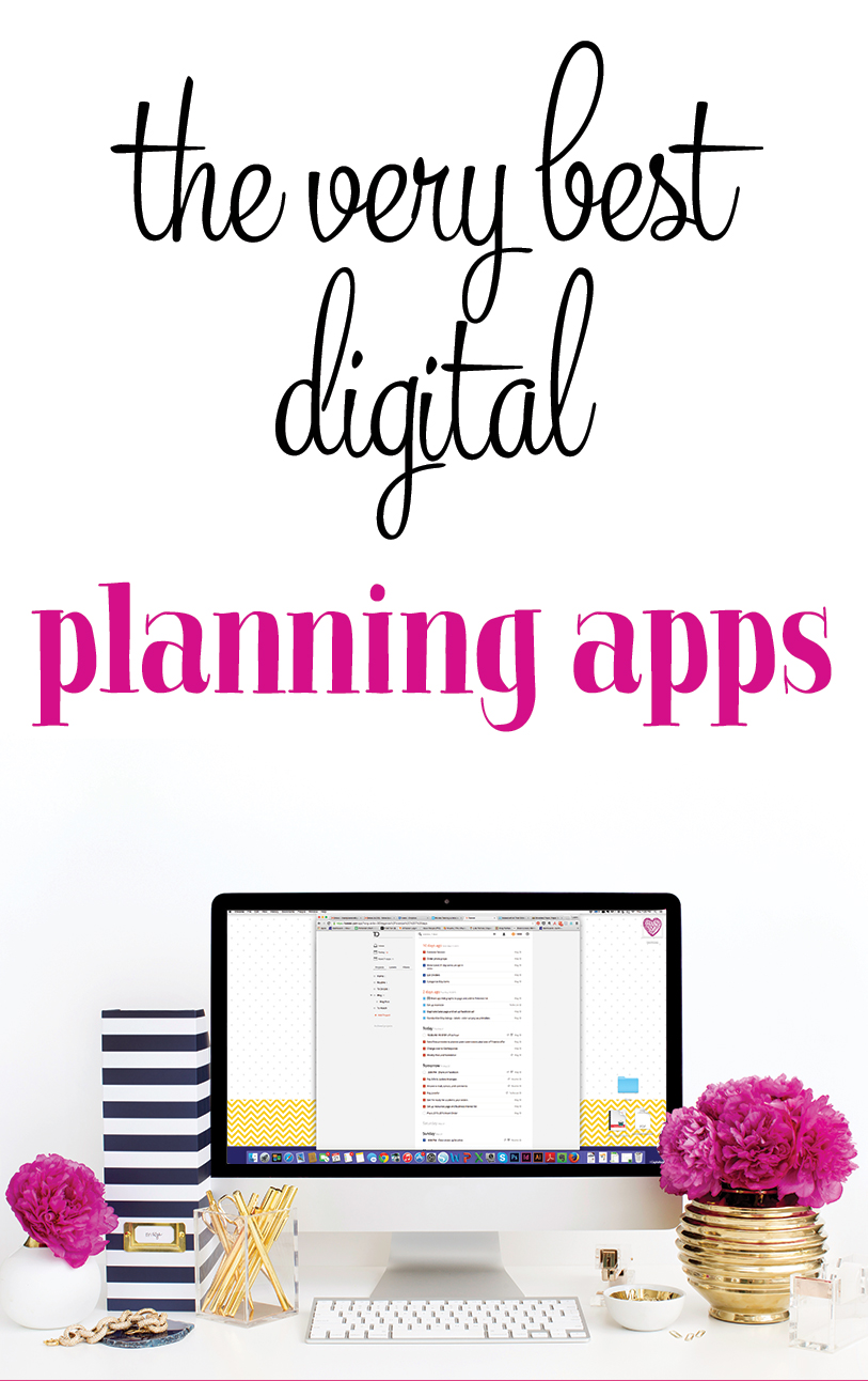 The best digital planning tools and apps. I'm a bit of a productivity