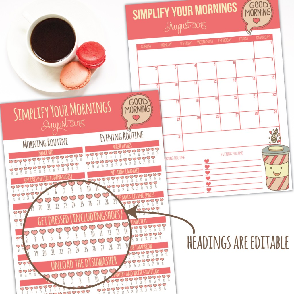 streamline your mornings challenge i heart planners