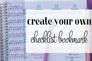 How to Create a Planner Checklist Sticker