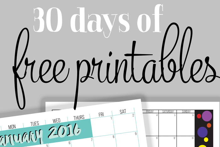 30 days of free printables i heart planners