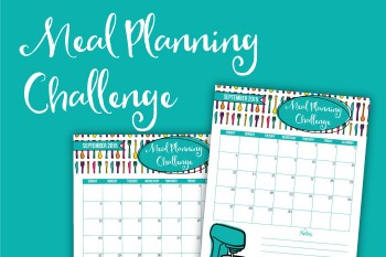 Join us for the meal planning challenge, and start following your meal plan every single day! Plus you'll get some free printables to help you stay on track.