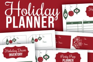 New Printable Holiday Planner