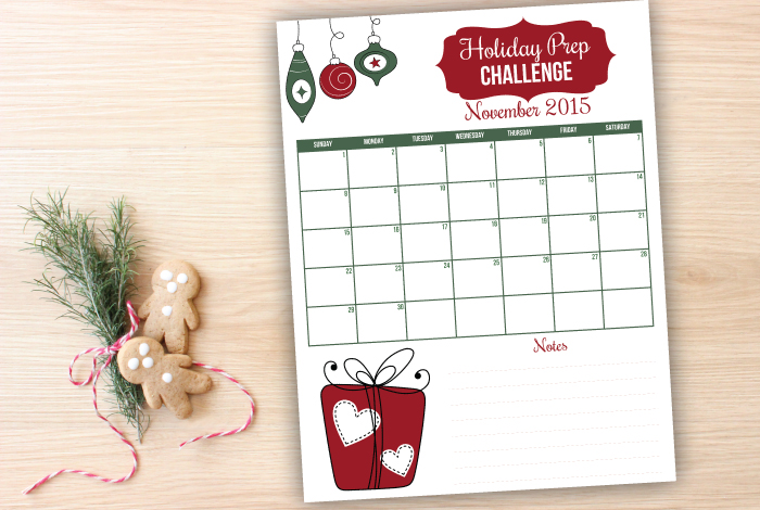 Join us for the holiday prep challenge to get organized for the holidays.