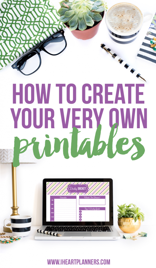 Learn how to create your own printables in this live workshop! - iheartplanners.com