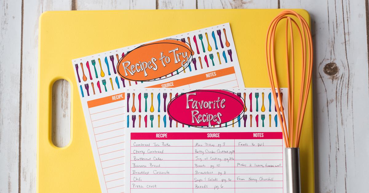 How to Organize Your Recipes – FREE webinar