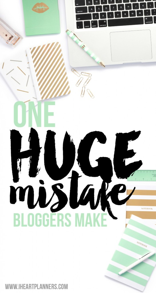 One huge mistake bloggers make, especially a new blogger. Here's now to recognize it, avoid it, and focus on what really matters.