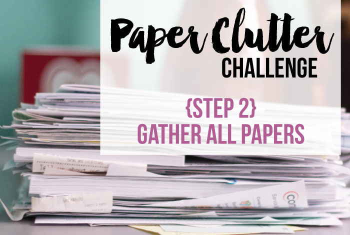Paper Clutter Challenge: Step 2