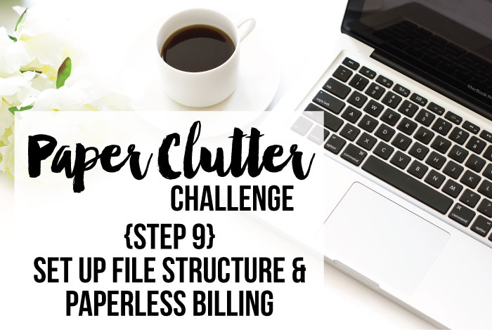Paperless Billing & Set Up File Structure {Step 9}