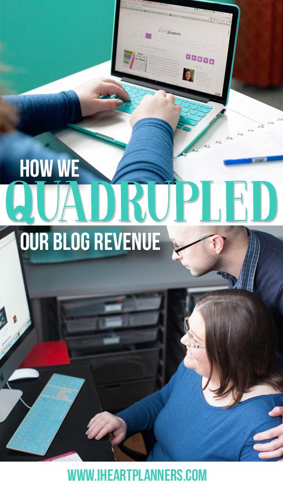 How We Quadrupled Our Blog Revenue - iheartplanners.com