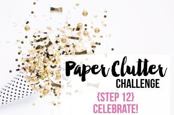 Get your paper clutter organized.