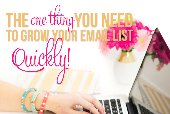 The One Thing You Need to Grow Your E-mail List Quickly