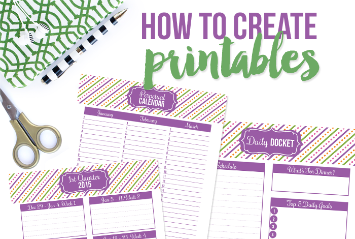 Create Printables Workshop - iheartplanners.com