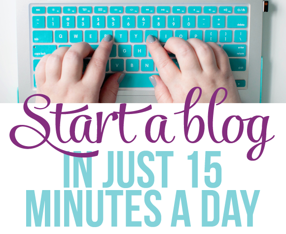 how to start up a blog page