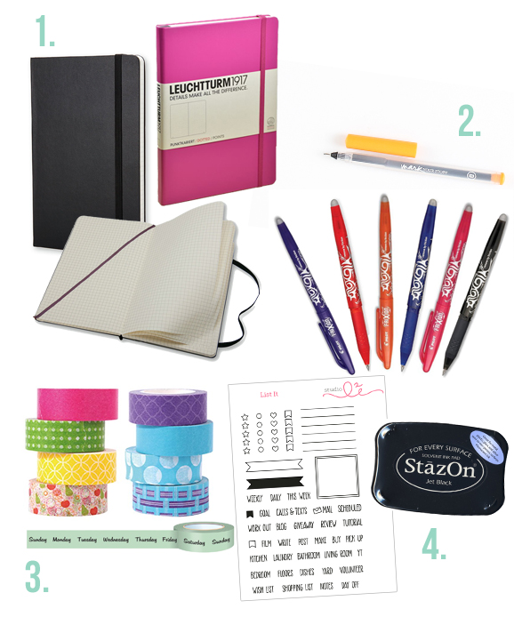 Getting started with Bullet Journaling? Here are the supplies you'll need!