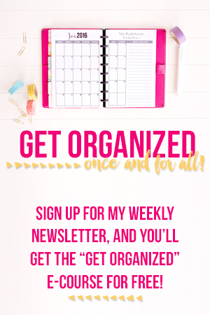 Get Organized Course