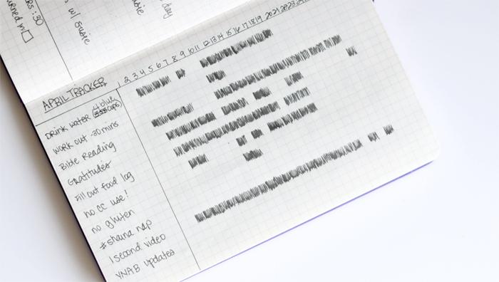 Monthly tracker inside my bullet journal