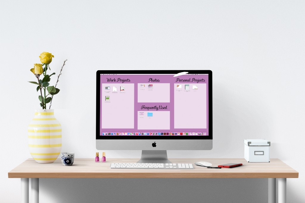 Do you ever feel like you don't have time to get organized? In the ideal world, perhaps we would have entire free afternoons to devote to completely overhauling our closet, our revamping our paper files, or reorganizing the toys. The good news is that you an accomplish a lot in just 15 minutes, like organize your computer's desktop.