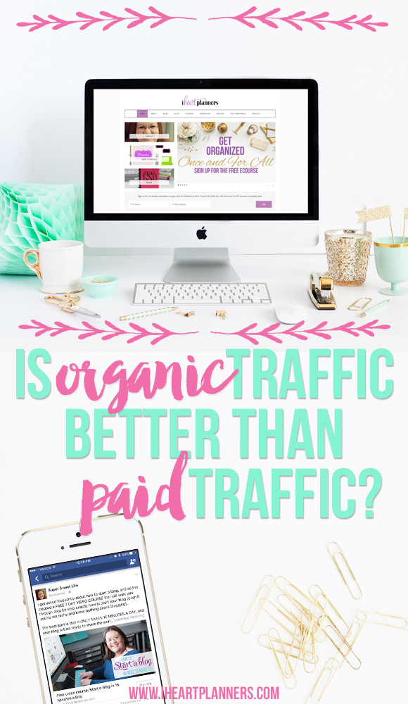 Is organic traffic better than paid traffic for your blog? What types of things should you consider if you're thinking about paying for ads for your blog or business? Don't waste good content on posts with no traffic. Consider buying ads for your blog.