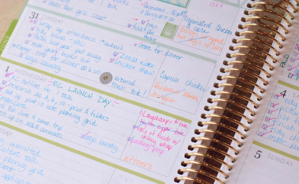 Three strategies for walking your plans from the big picture to reality using the Erin Condren planner.