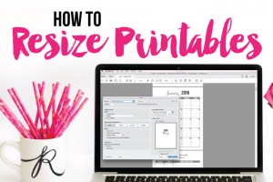 How to Resize Printables for a Smaller Size Planner