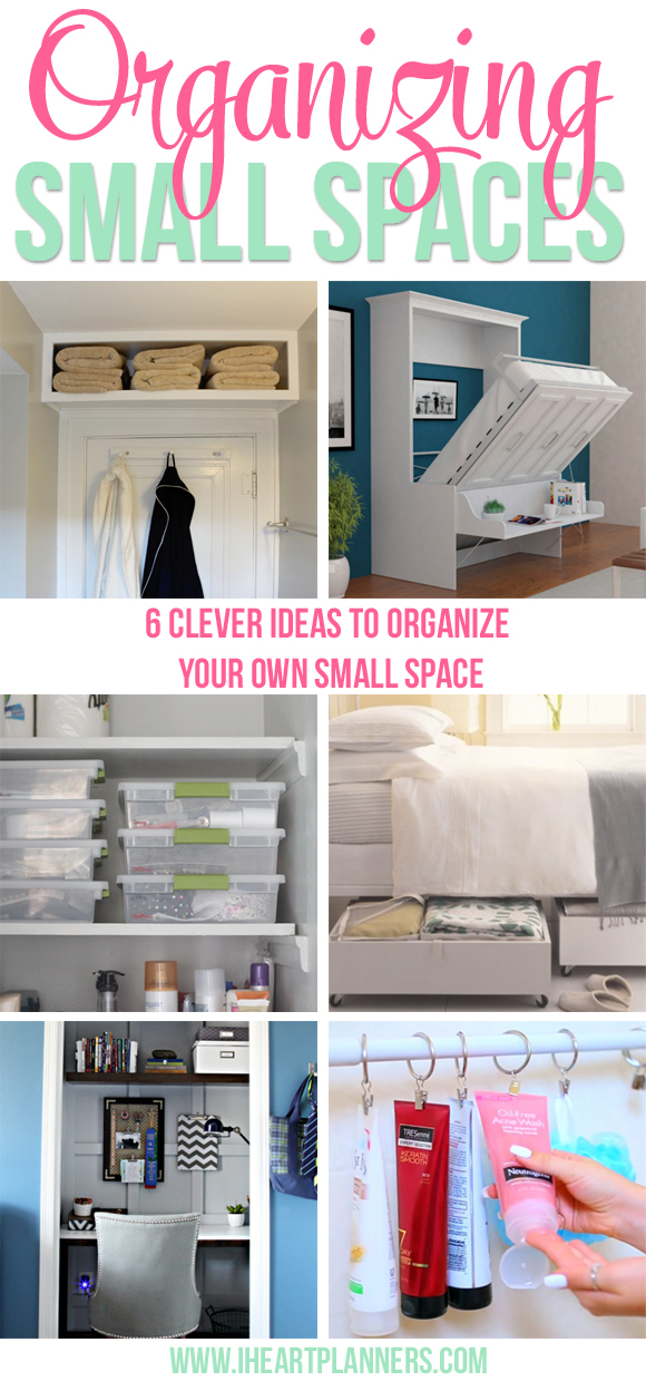 Organizing small spaces i heart planners Small room organization