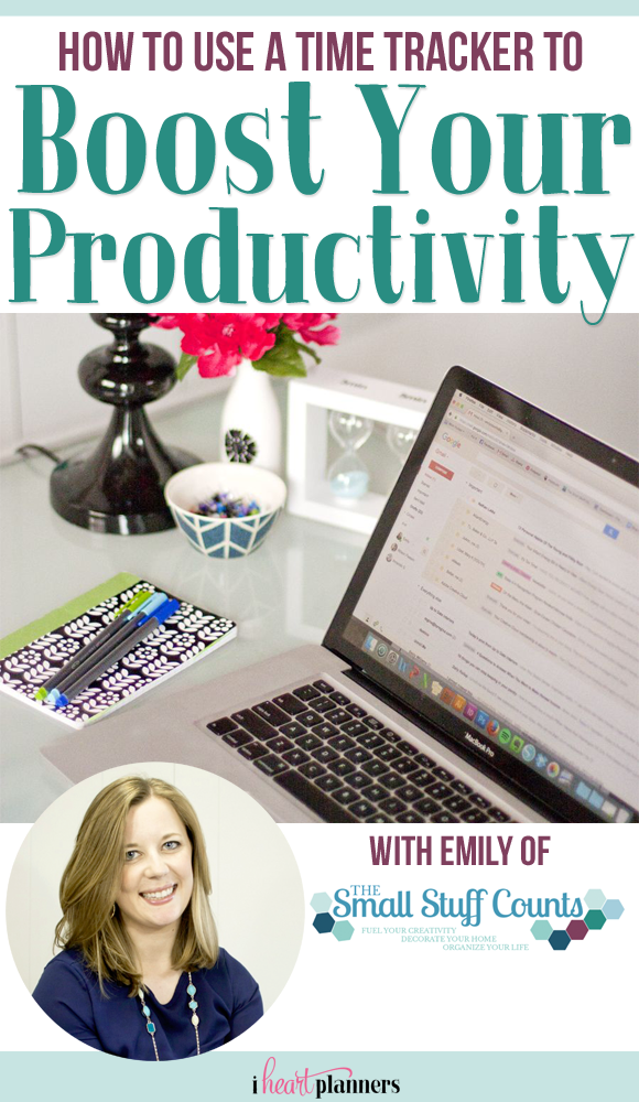 When organizing your time, the first step is understanding how you're currently using it. It's important to step back and assess how you currently spend your time, and the best way to do that is with a time tracker. This is a great way to see how you're really doing so you can make changes to boost your productivity moving forward! Guest post from Emily of The Small Stuff Counts - iheartplanners.com
