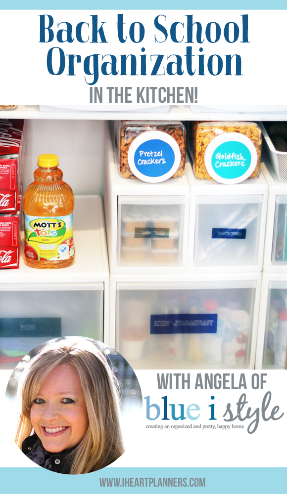 I think most of you will agree that the kitchen is the heart of the home, and getting organized in this space can help all your days run more smoothly - especially during the busy school year. Here are some tips from Angela of blue i sky to get back to school organized. - iheartplanners.com