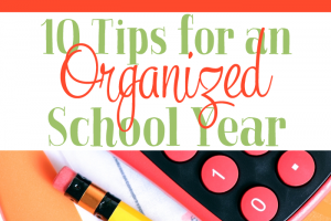 Ten Things To Do for an Organized School Year