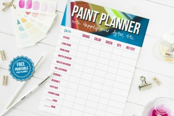 Printable Paint Planner