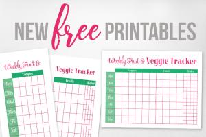 Free Printable Fruit & Veggie Tracker
