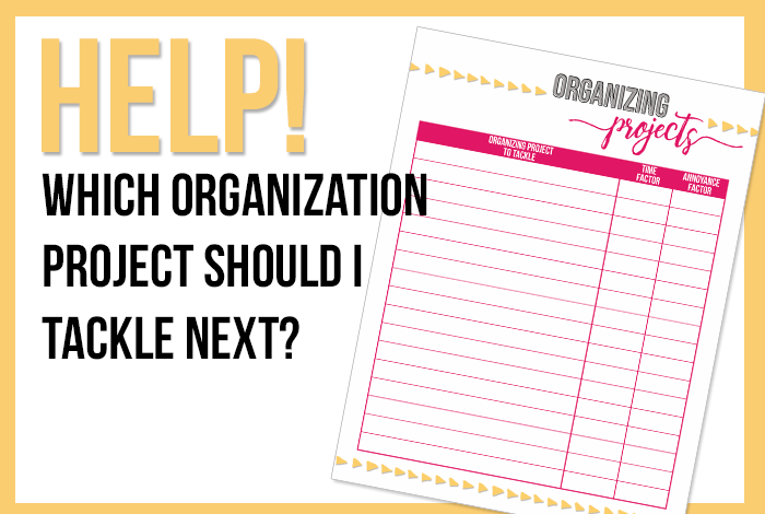 I've been feeling overwhelmed by all the organizing projects I want to tackle, so I made a printable and included a unique system for rating and prioritizing the projects. Get your free download here. - www.iheartplanners.com