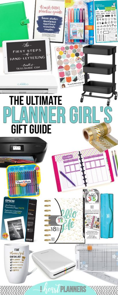 If you have a planner girl in your life and you're not sure what to get them, I'm here to help! (And if you are a planner junkie yourself, here's some ideas of things to add to your wish list.) I've put together the Ultimate Planner Girl gift guide. - www.iheartplanners.com