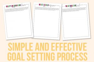 Simple and Effective Goal Setting Process
