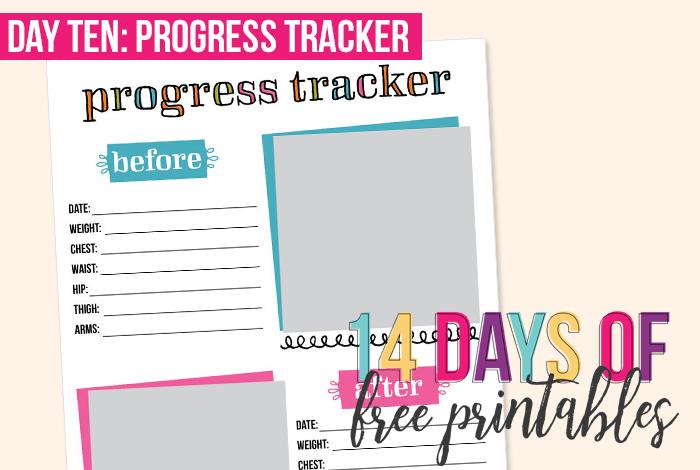 day 10 progress tracker i heart planners