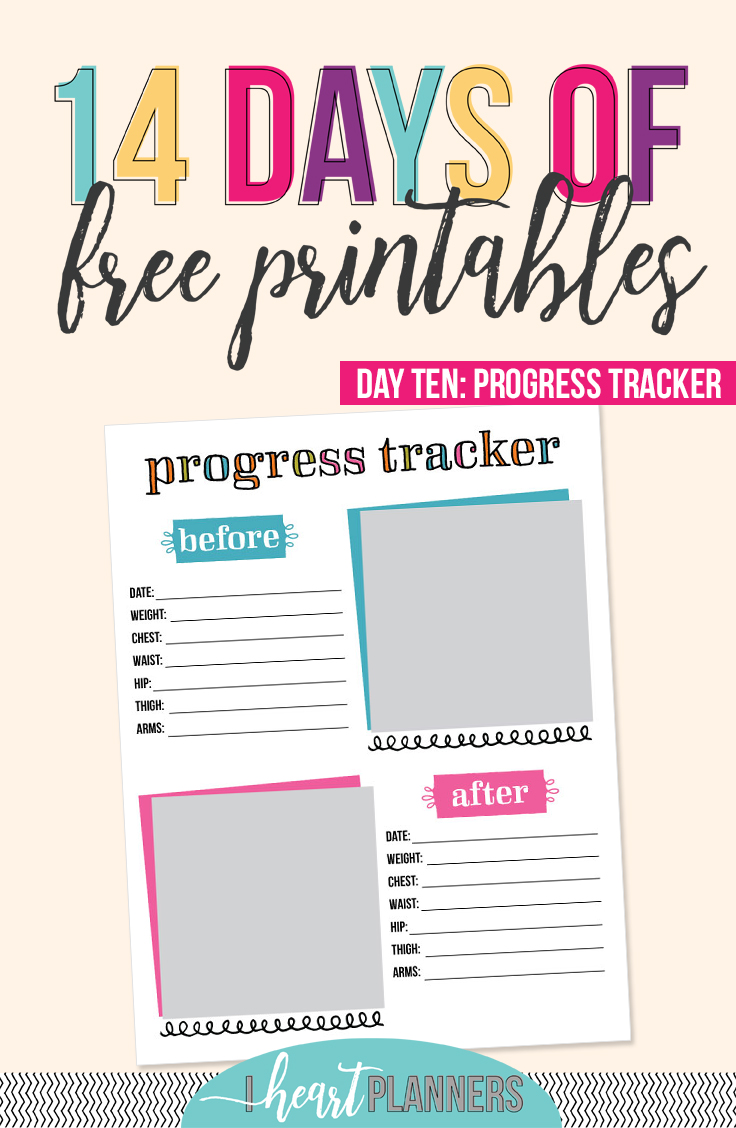 picture relating to Weight Loss Tracker Printable known as Working day 10: Advancements Tracker - I Centre Planners