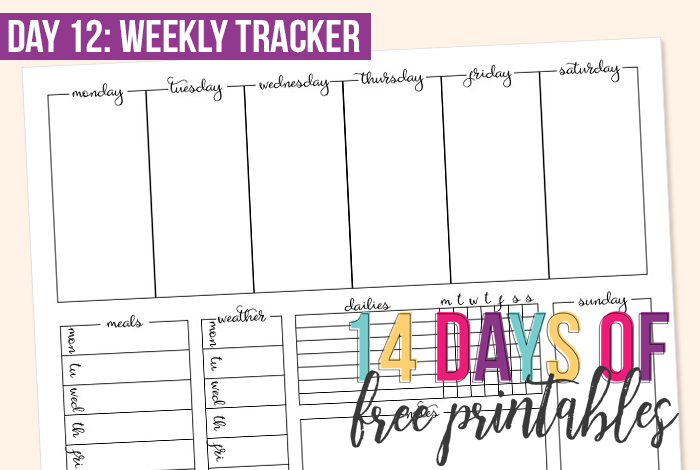 Day 12: Simple Weekly Tracker