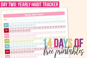 Day 2: Yearly Habit Tracker