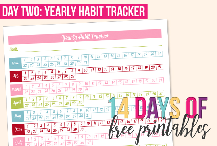 day 2 yearly habit tracker i heart planners