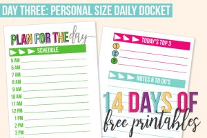 Day 3: Daily Docket – Personal Size