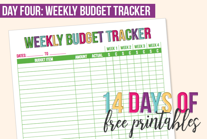 day 4 weekly budget tracker i heart planners