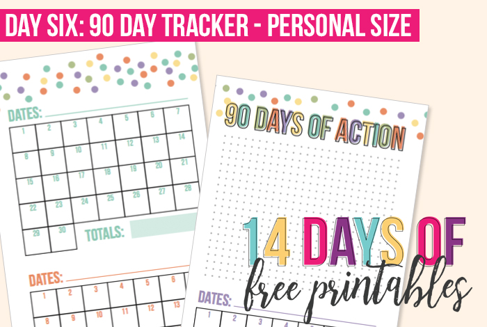 Day 6: Personal Size 90-day Tracker