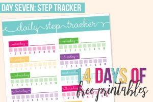 Day 7: Step Tracker Printable