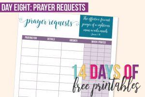 Day 8: Prayer Requests